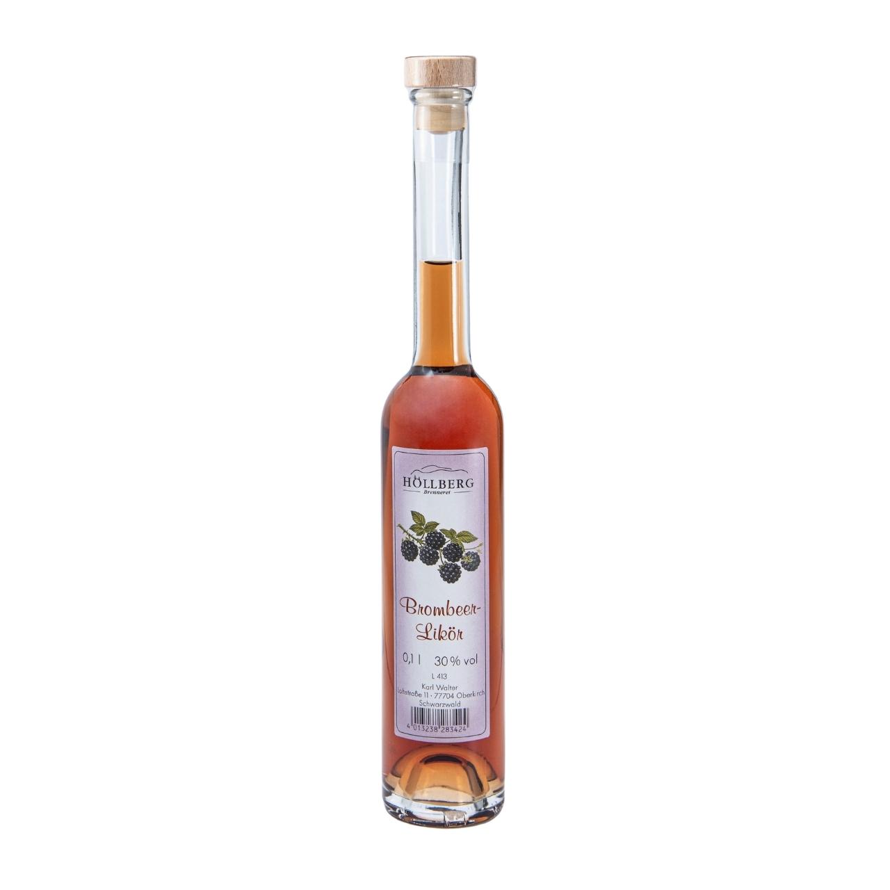 0,1 Liter Platinflasche Höllberg Brombeerlikör