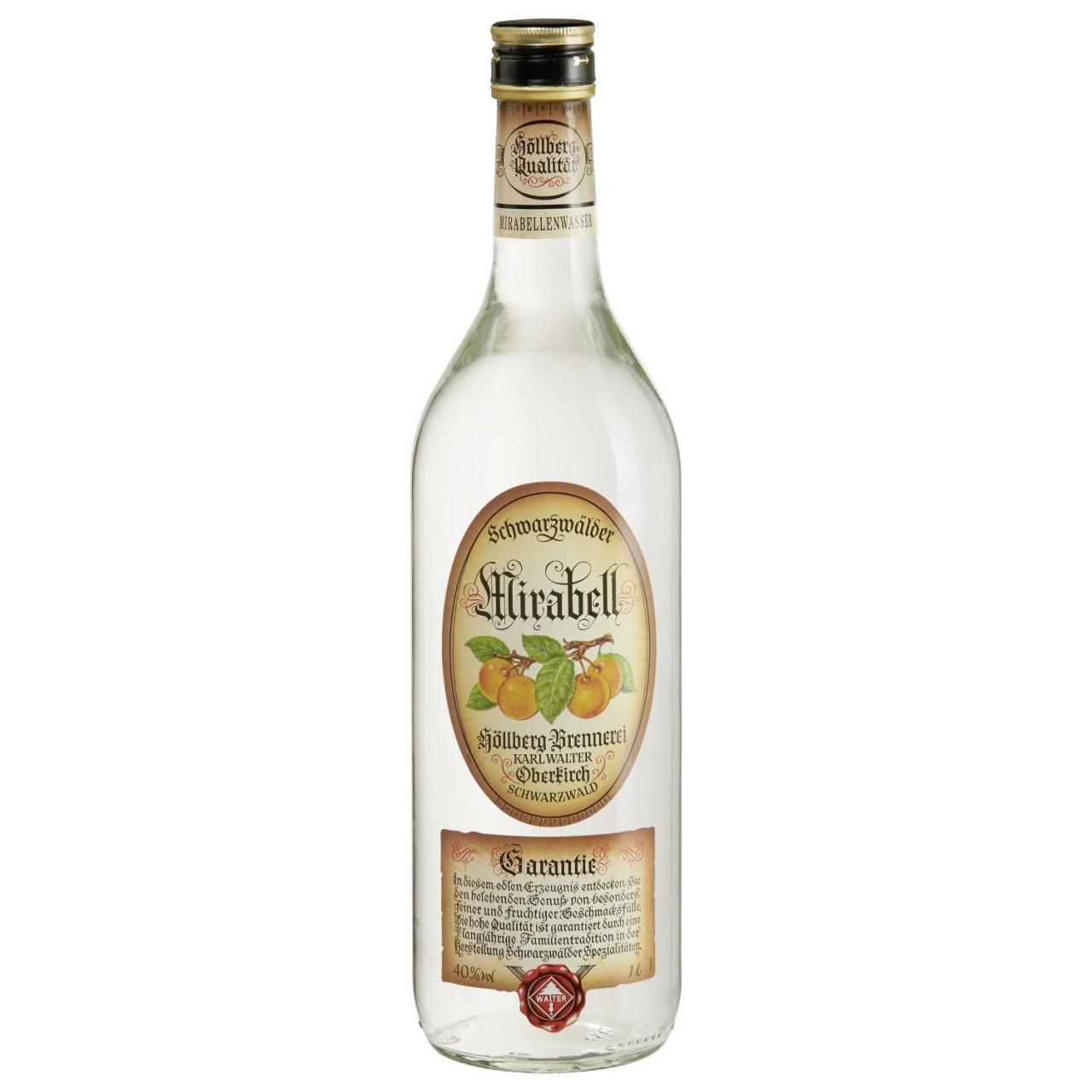 1,0 Liter Flasche Höllberg Mirabellenwasser