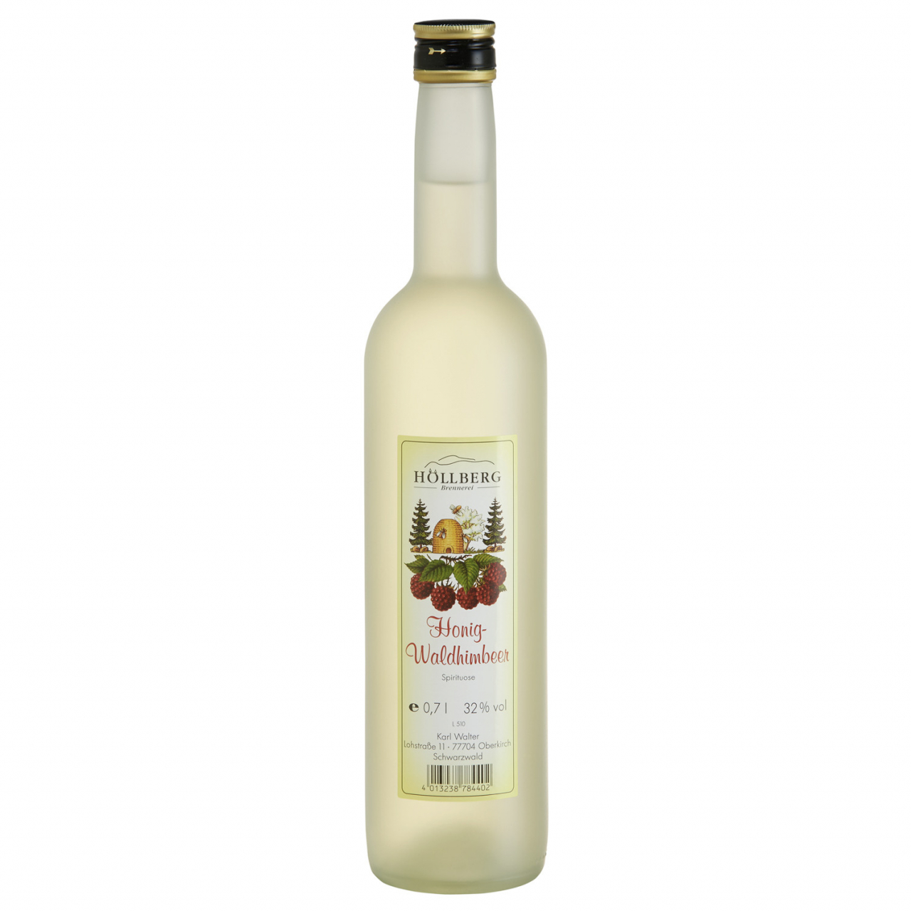 0,7 Liter Flasche Höllberg Honig Waldhimeer