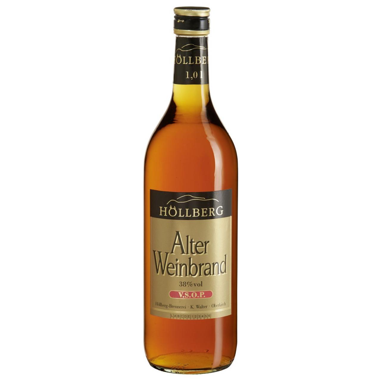 1,0 Liter Flasche Höllberg Weinbrand