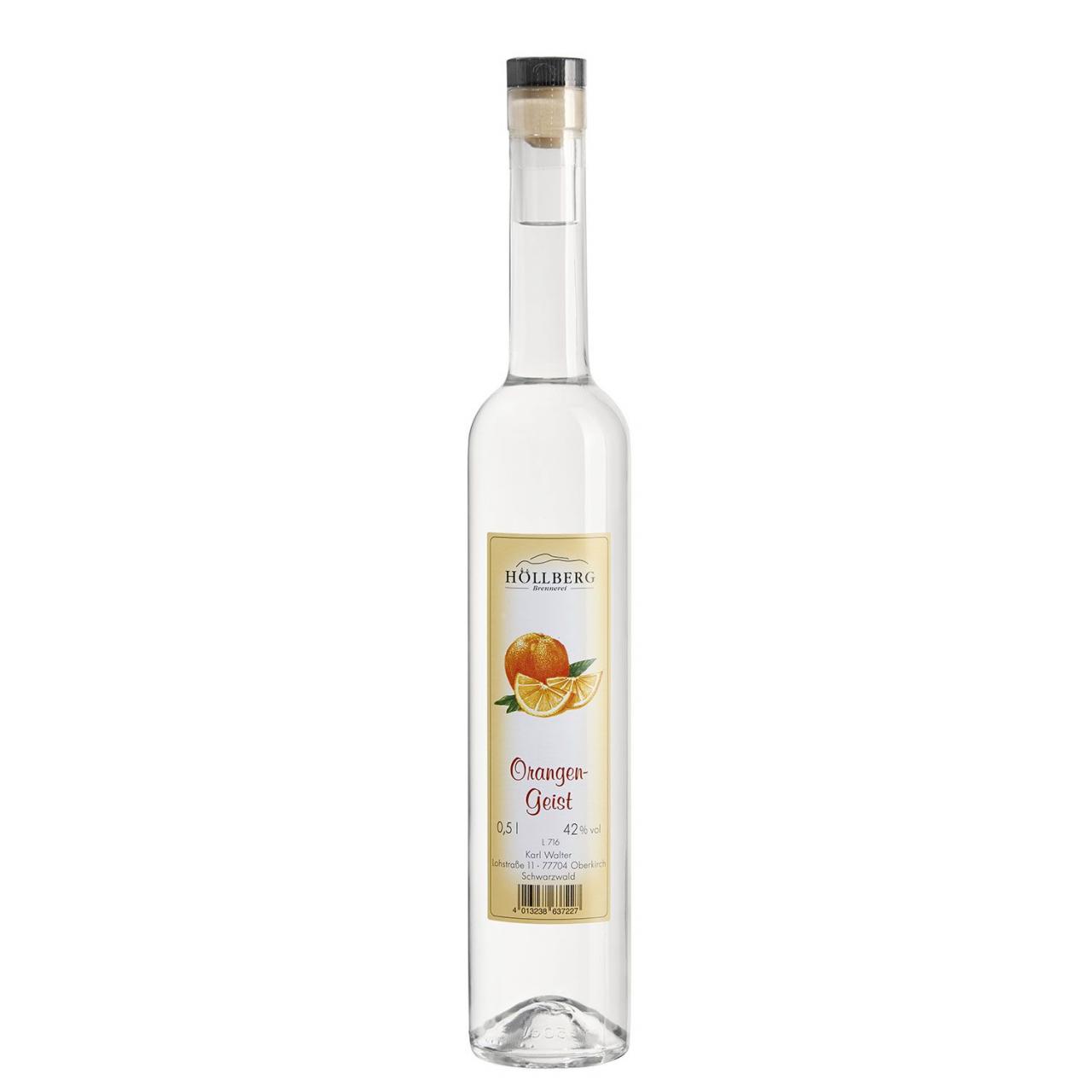 0,5 Liter Flasche prämierter Hoellberg Orangengeist