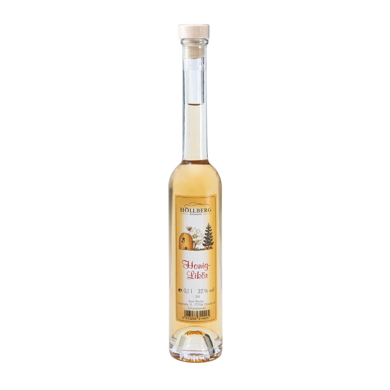 0,1 Liter Platinflasche Höllberg Honiglikör