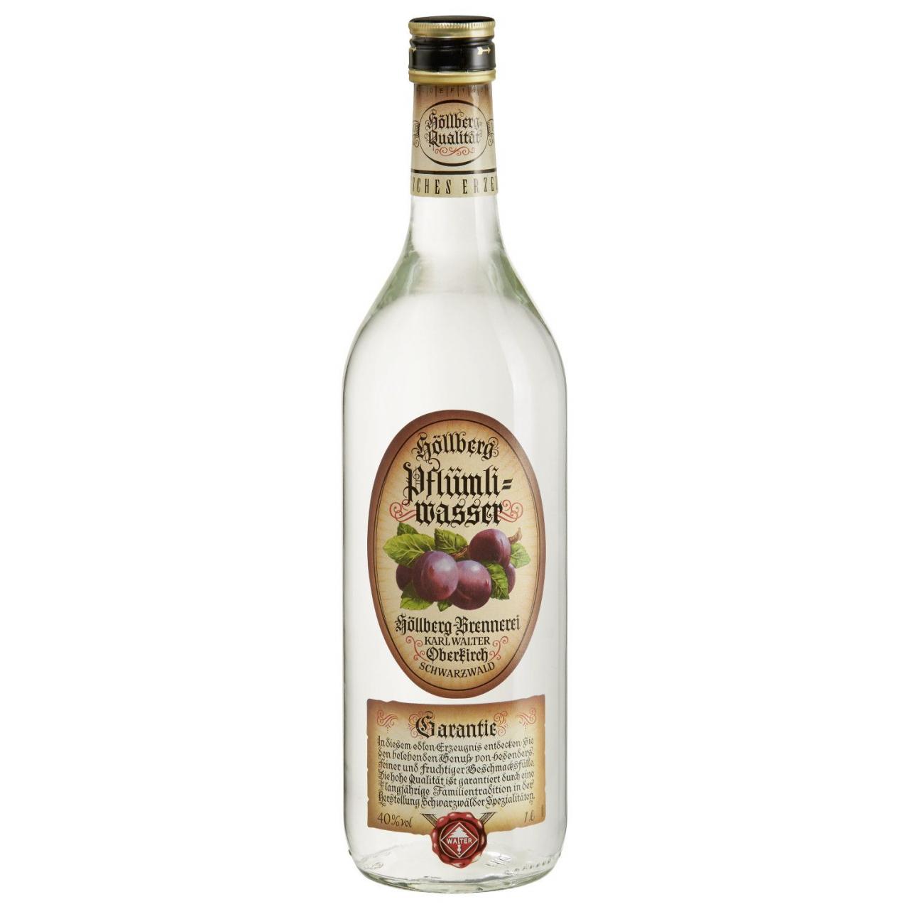 1,0 Liter Flasche Höllberg Pflümliwasser
