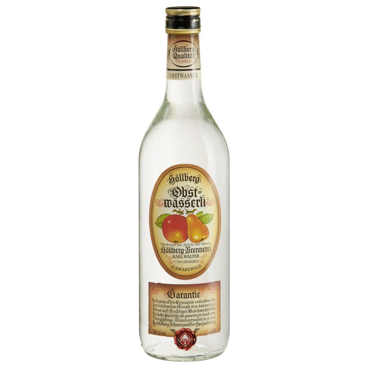 1,0 Liter Flasche Höllberg Obstwasser