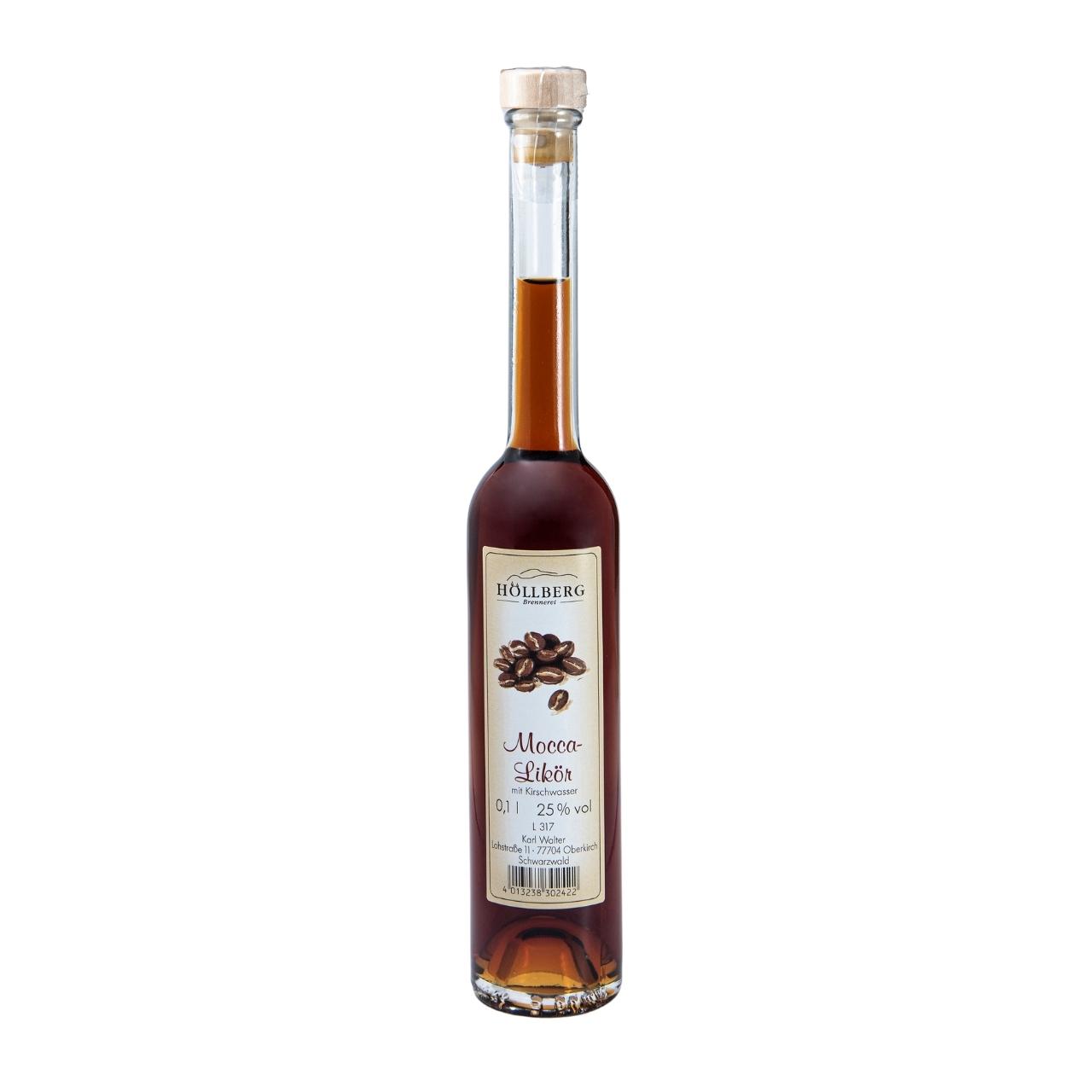 0,1 Liter Platinflasche Höllberg Moccalikör