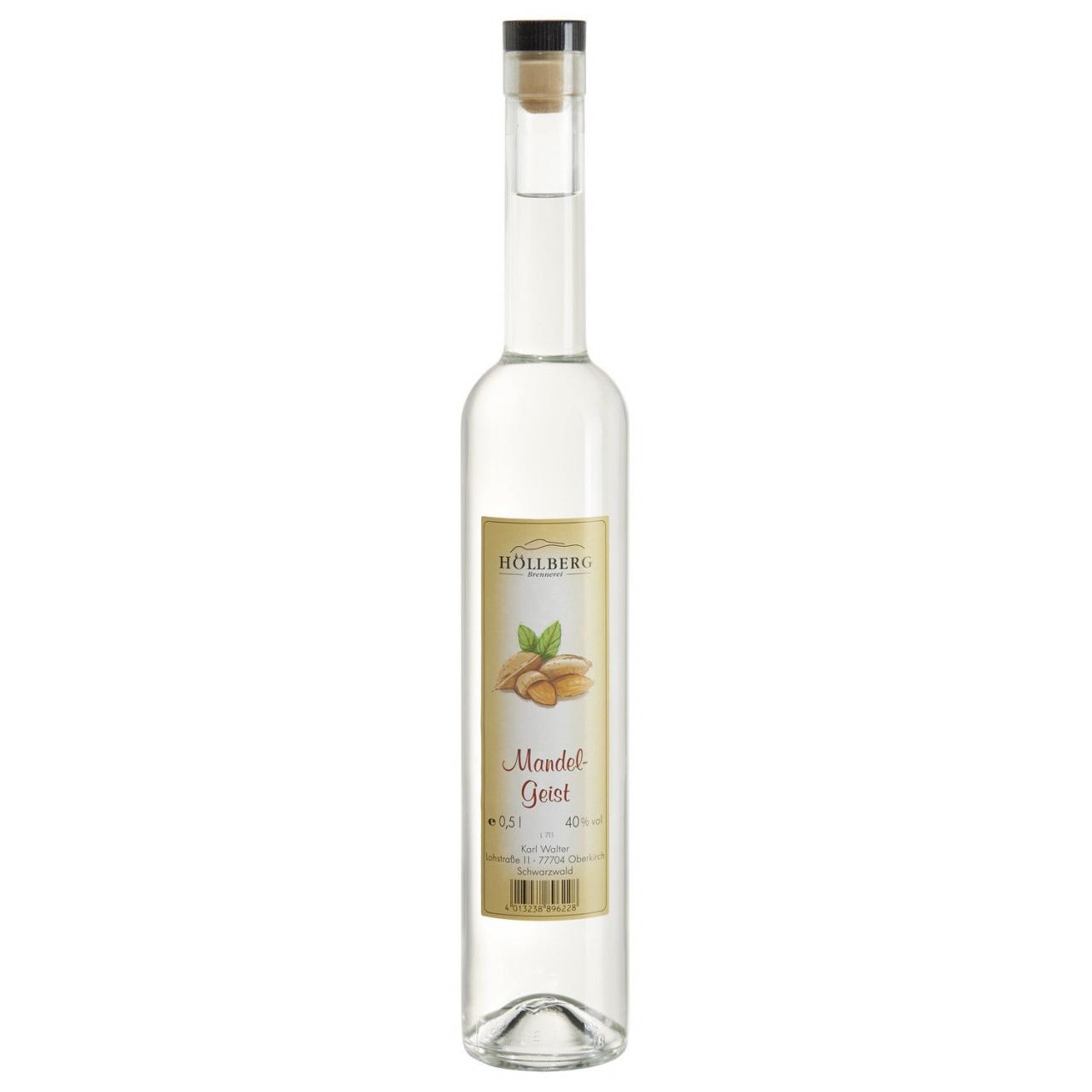 0,5 Liter Flasche Höllberg Mandelgeist