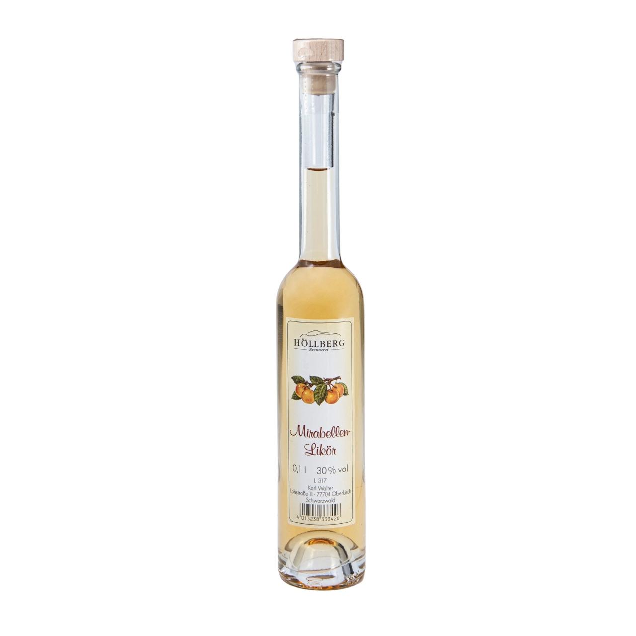 0,1 Liter Platinflasche Höllberg Mirabellenlikör