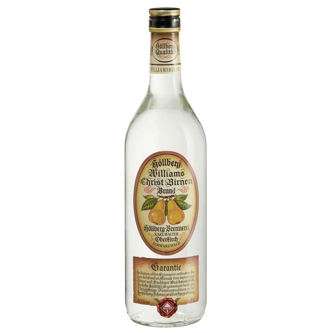 1,0 Liter Flasche Höllberg Williams-Brand