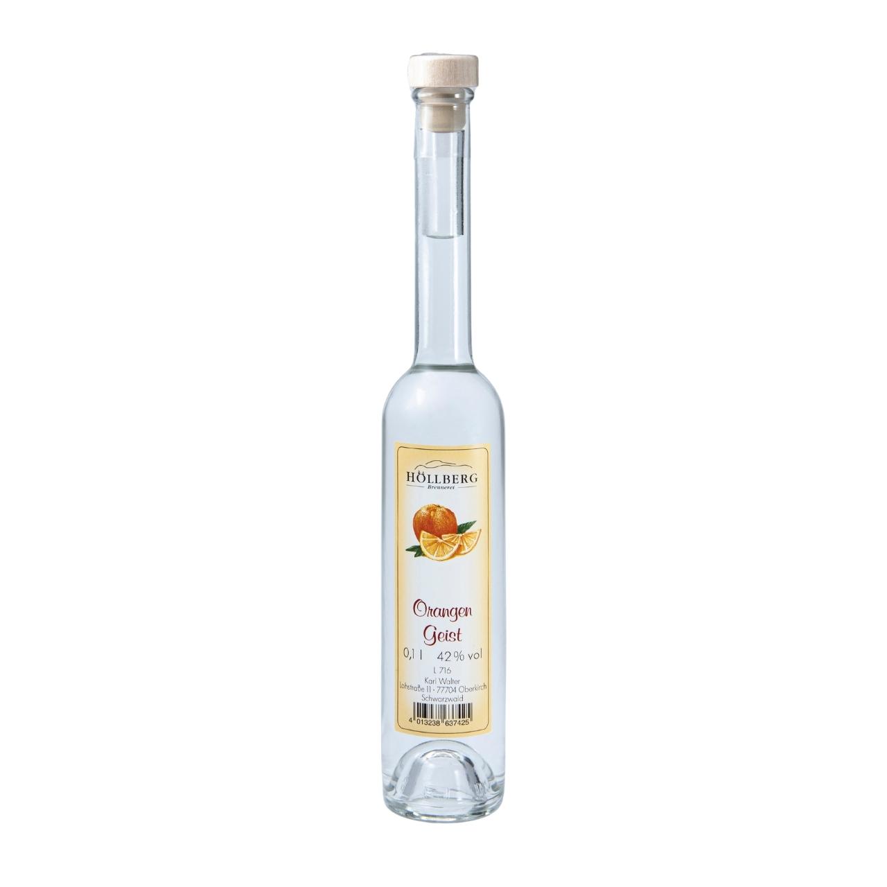 0,1 Liter Platinflasche Höllberg Orangenlikör
