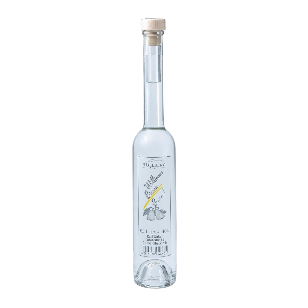 0,1 Liter Platinflasche Höllberg Williams Birnenbrand