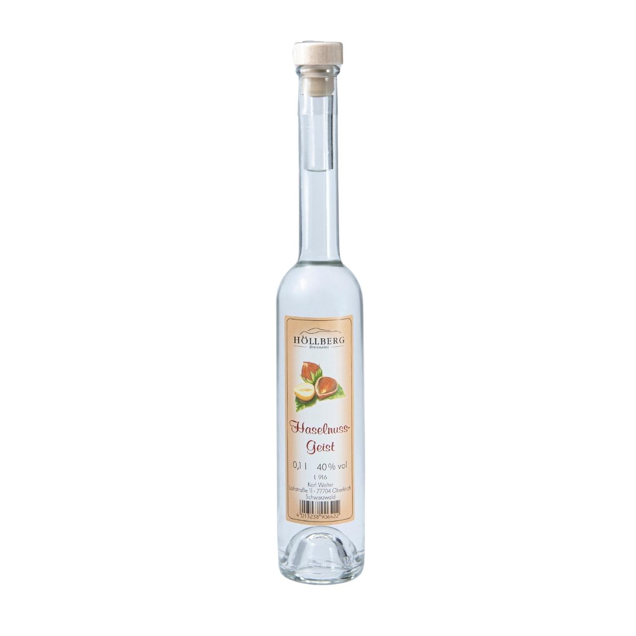 0,1 Liter Platinflasche Höllberg Haselnussgeist