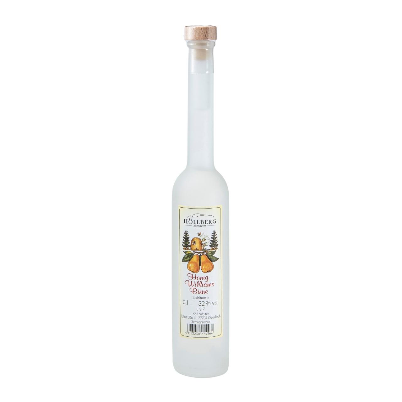 0,1 Liter Platinflasche satiniert Höllberg Honig-Williams-Birne